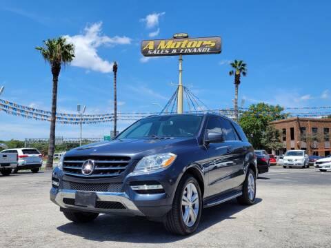 2012 Mercedes-Benz M-Class for sale at A MOTORS SALES AND FINANCE - 6226 San Pedro Lot in San Antonio TX