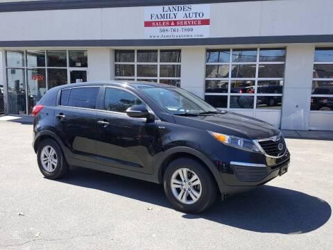 2012 Kia Sportage for sale at Landes Family Auto Sales in Attleboro MA