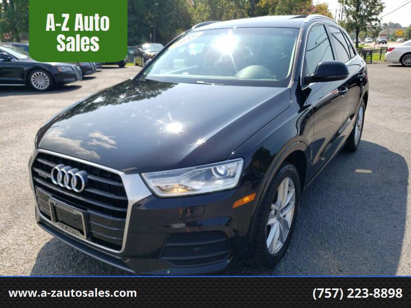 2016 Audi Q3 for sale at A-Z Auto Sales in Newport News VA