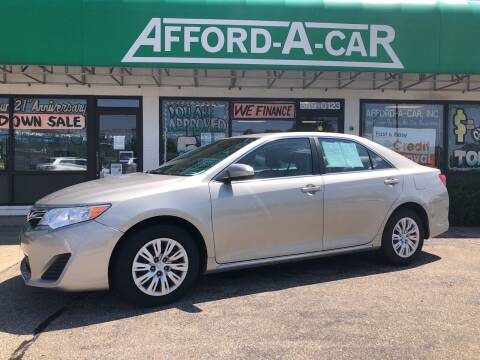 2014 Toyota Camry for sale at Afford-A-Car in Dayton/Newcarlisle/Springfield OH