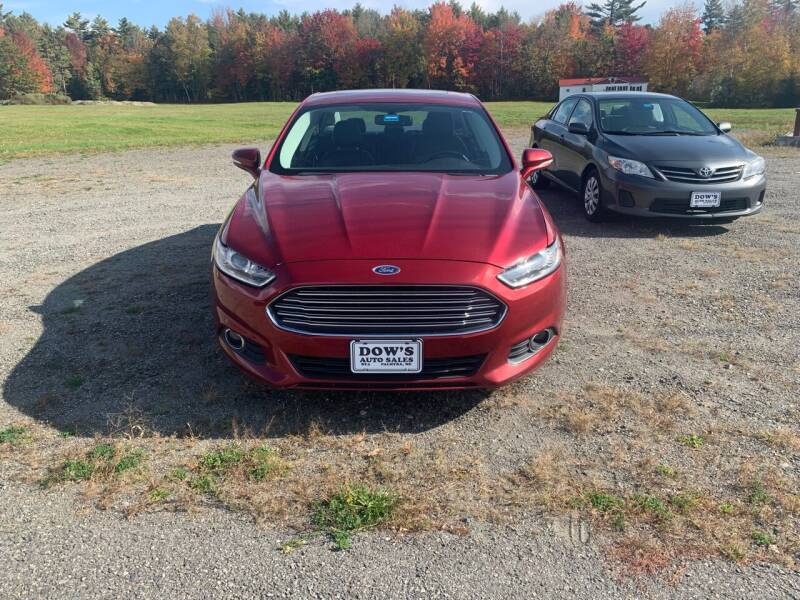 2013 Ford Fusion for sale at DOW'S AUTO SALES in Palmyra ME