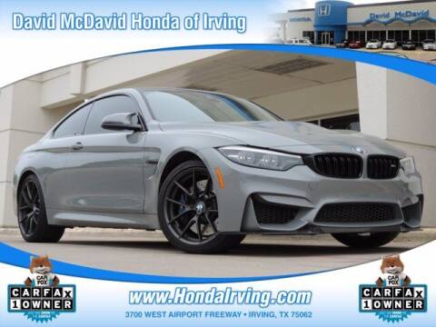 2019 BMW M4 for sale at DAVID McDAVID HONDA OF IRVING in Irving TX