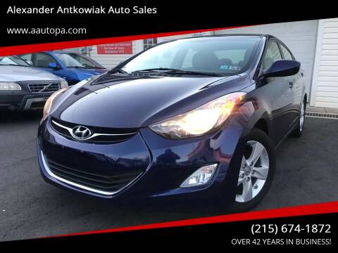 2013 Hyundai Elantra for sale at Alexander Antkowiak Auto Sales in Hatboro PA
