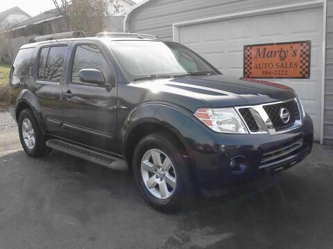 2008 Nissan Pathfinder for sale at Marty's Auto Sales in Lenoir City TN