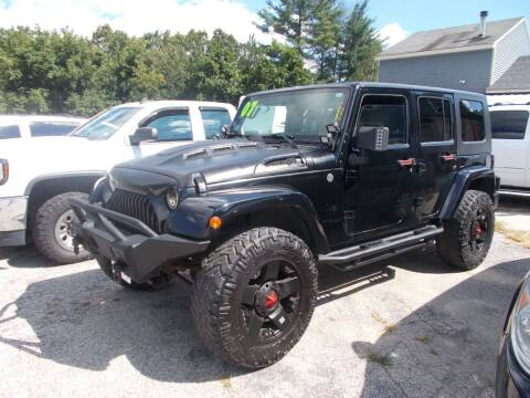2007 Jeep Wrangler Unlimited for sale at Manchester Motorsports in Goffstown NH