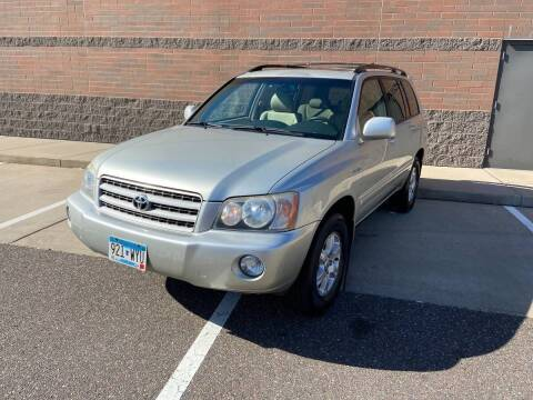 2003 Toyota Highlander for sale at KI Auto Body and Sales in Lino Lakes MN