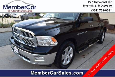 2011 RAM Ram Pickup 1500 for sale at MemberCar in Rockville MD