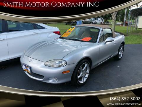 2001 Mazda MX-5 Miata for sale at Smith Motor Company INC in Mc Cormick SC