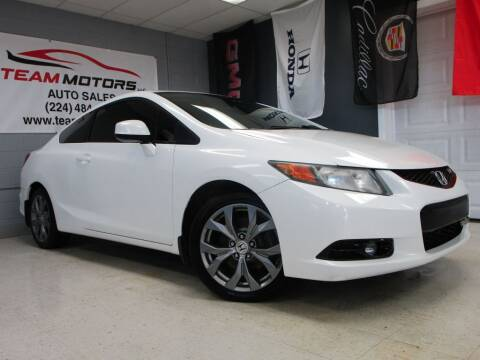 2012 Honda Civic for sale at TEAM MOTORS LLC in East Dundee IL