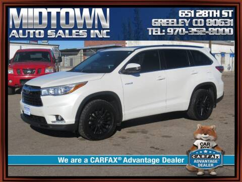 2015 Toyota Highlander Hybrid for sale at MIDTOWN AUTO SALES INC in Greeley CO