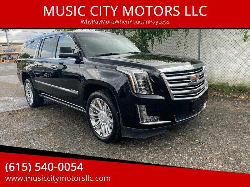 2017 Cadillac Escalade ESV for sale at MUSIC CITY MOTORS LLC in Nashville TN