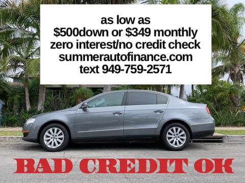 2008 Volkswagen Passat for sale at SUMMER AUTO FINANCE in Costa Mesa CA