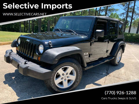2008 Jeep Wrangler Unlimited for sale at Selective Imports in Woodstock GA