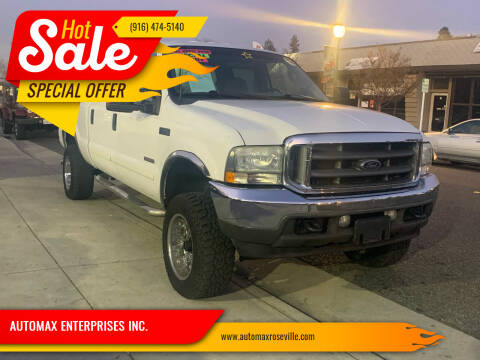 2004 Ford F-350 Super Duty for sale at AUTOMAX ENTERPRISES INC. in Roseville CA