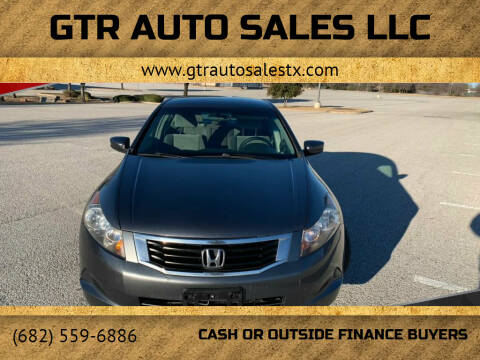 2008 Honda Accord for sale at GTR Auto Sales LLC in Haltom City TX