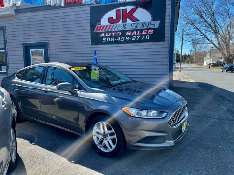 2013 Ford Fusion for sale at JK & Sons Auto Sales in Westport MA