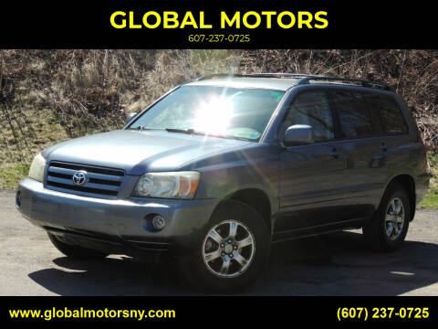 2006 Toyota Highlander for sale at GLOBAL MOTORS in Binghamton NY