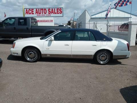 2001 Cadillac DeVille for sale at ACE AUTO SALES in Lake Havasu City AZ