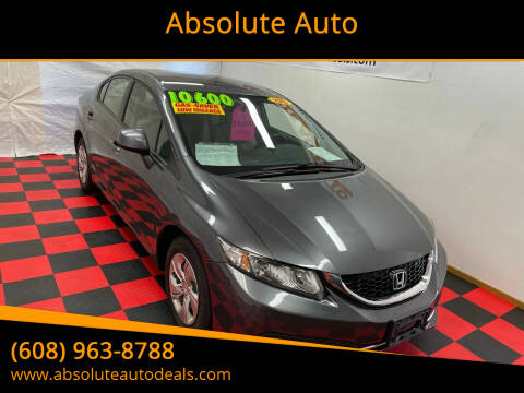 2013 Honda Civic for sale at Absolute Auto in Baraboo WI