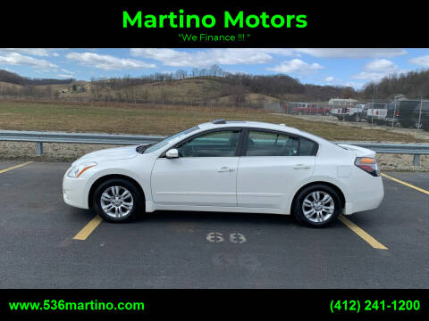2012 Nissan Altima for sale at Martino Motors in Pittsburgh PA