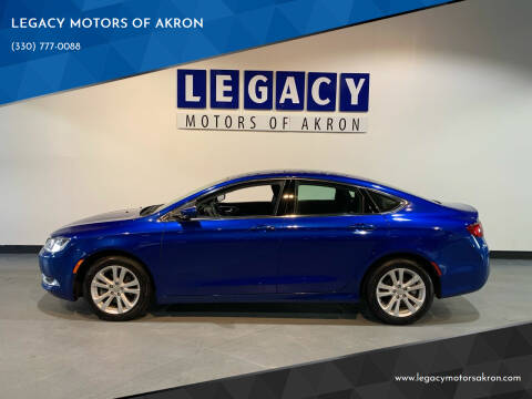 2016 Chrysler 200 for sale at LEGACY MOTORS OF AKRON in Akron OH