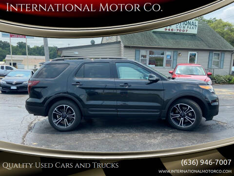 2015 Ford Explorer for sale at International Motor Co. in Saint Charles MO