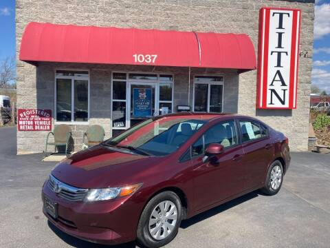 2012 Honda Civic for sale at Titan Auto Sales LLC in Albany NY