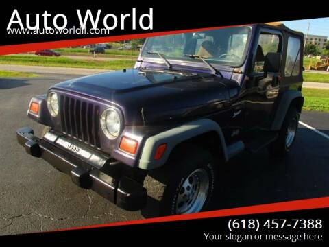 1998 Jeep Wrangler for sale at Auto World in Carbondale IL