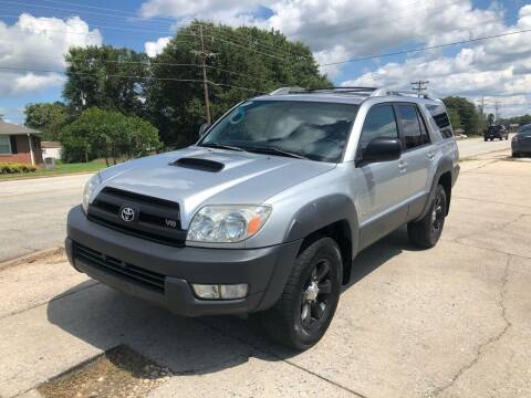 2003 Toyota 4Runner for sale at E Motors LLC in Anderson SC