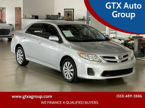 2012 Toyota Corolla for sale at GTX Auto Group in West Chester OH