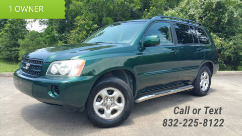 2001 Toyota Highlander for sale at Houston Auto Preowned in Houston TX