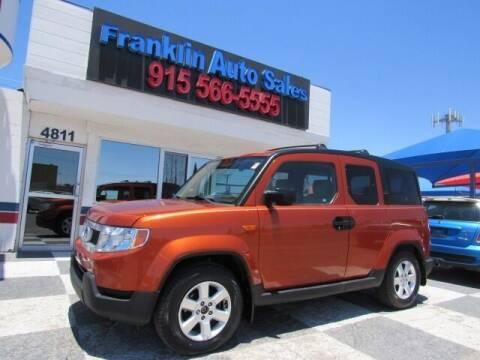 2011 Honda Element for sale at Franklin Auto Sales in El Paso TX