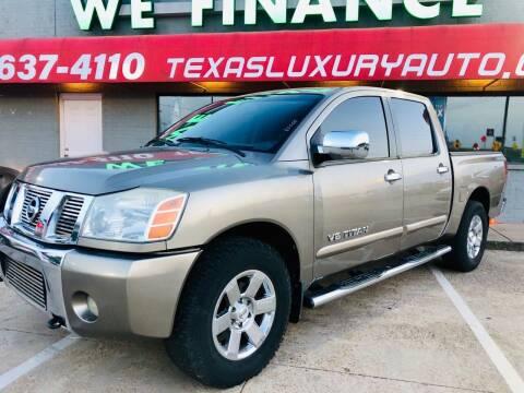 2007 Nissan Titan for sale at Texas Luxury Auto in Cedar Hill TX