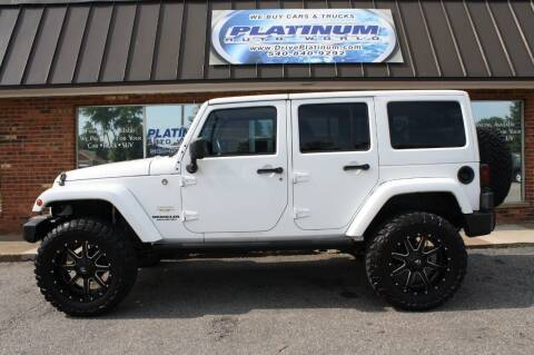 2013 Jeep Wrangler Unlimited for sale at Platinum Auto World in Fredericksburg VA