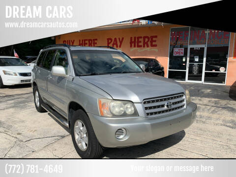 2002 Toyota Highlander for sale at DREAM CARS in Stuart FL
