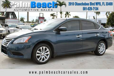 2014 Nissan Sentra for sale at Palm Beach Automotive Sales in West Palm Beach FL
