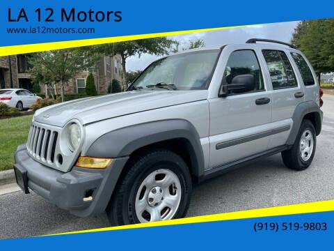2005 Jeep Liberty for sale at LA 12 Motors in Durham NC