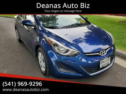 2016 Hyundai Elantra for sale at Deanas Auto Biz in Pendleton OR