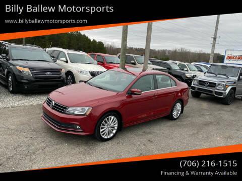 2016 Volkswagen Jetta for sale at Billy Ballew Motorsports in Dawsonville GA