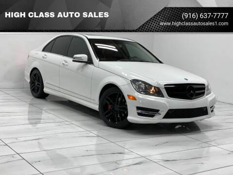 2013 Mercedes-Benz C-Class for sale at HIGH CLASS AUTO SALES in Rancho Cordova CA