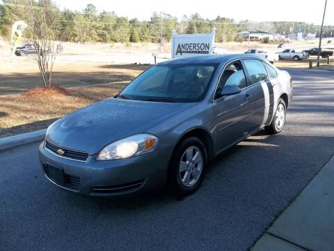 2007 Chevrolet Impala for sale at Anderson Wholesale Auto in Warrenville SC