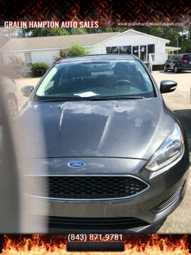 2016 Ford Focus for sale at Gralin Hampton Auto Sales in Summerville SC