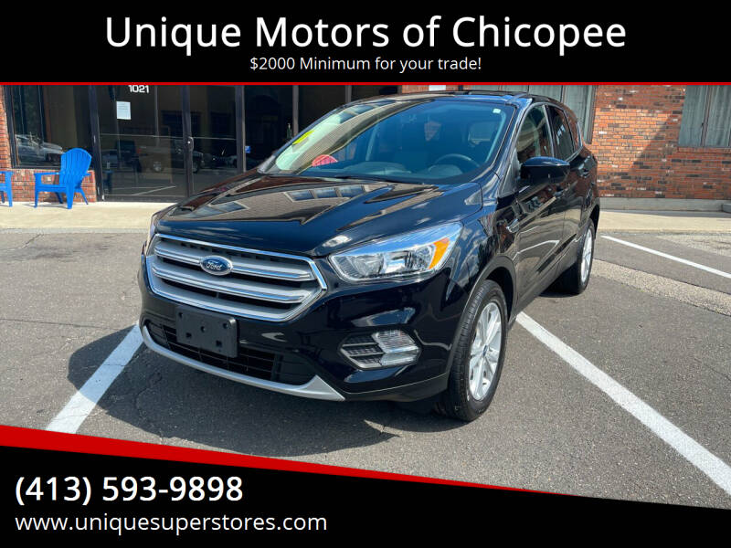 2019 Ford Escape for sale at Unique Motors of Chicopee in Chicopee MA
