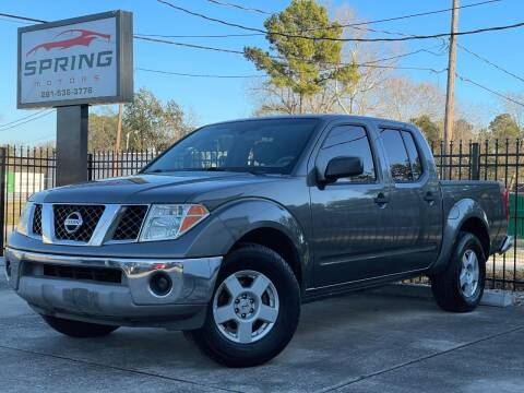 2006 Nissan Frontier for sale at Spring Motors in Spring TX