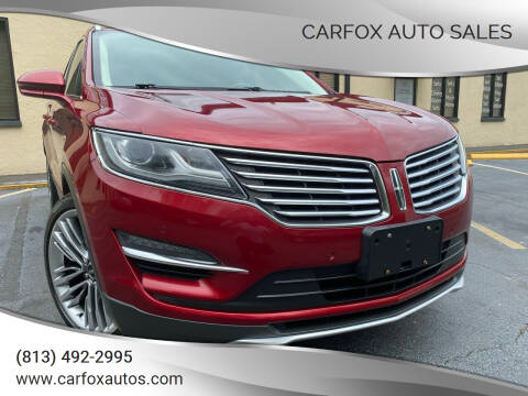 2015 Lincoln MKC for sale at Carfox Auto Sales in Tampa FL