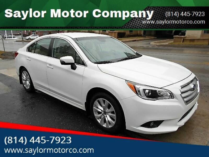 2016 Subaru Legacy for sale at Saylor Motor Company in Somerset PA