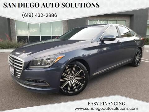 2015 Hyundai Genesis for sale at San Diego Auto Solutions in Escondido CA