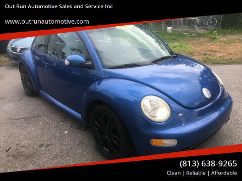 2003 Volkswagen New Beetle for sale at Out Run Automotive Sales and Service Inc in Tampa FL