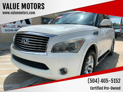 2011 Infiniti QX56 for sale at VALUE MOTORS in Kenner LA