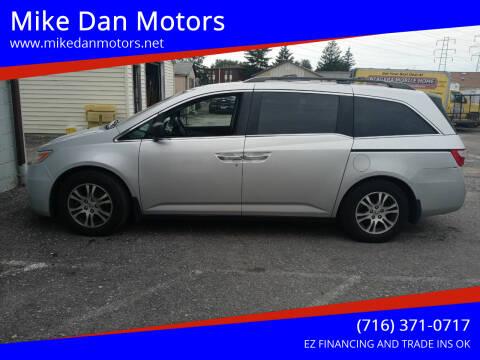 2012 Honda Odyssey for sale at Mike Dan Motors in Niagara Falls NY